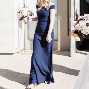 Dessy BellaBridesmaids Navy Dress style 2987